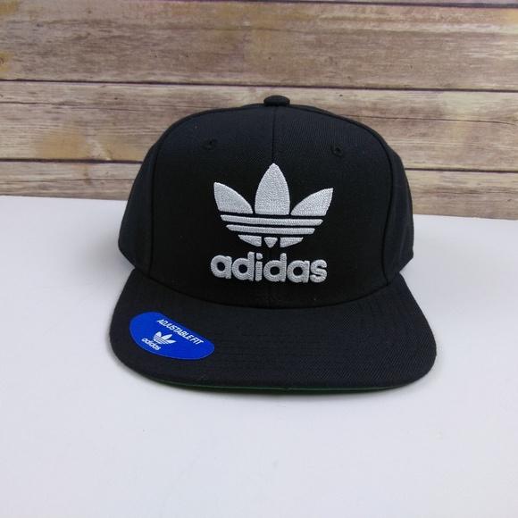 c0f77a484f12c Adidas Mens Originals Snapback Flatbrim Cap Black